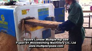 Long Square Lumber Multiple Rip Saw