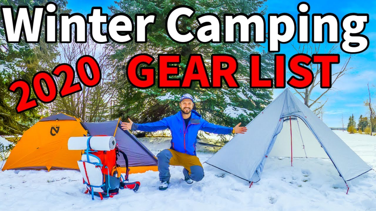 GEAR LIST for WINTER CAMPING | Staying Warm and ...