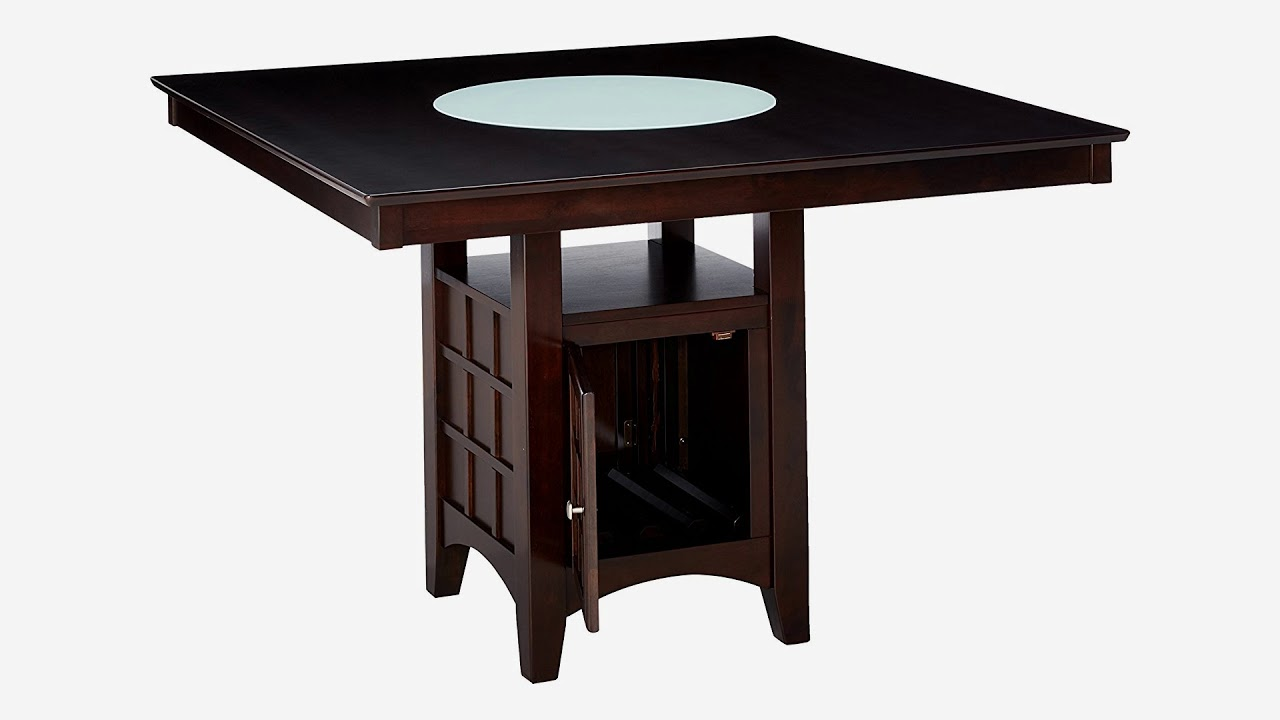 Coaster Hyde Counter Height Square Dining Table With Storage Base In Cappuccino O