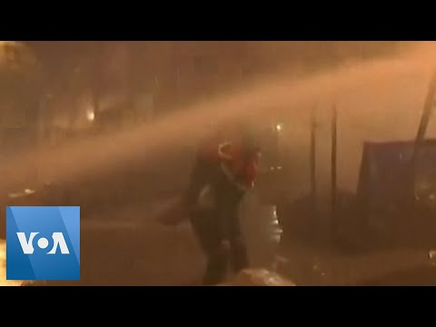Tear Gas, Water Cannons Fired at Lebanese Protesters