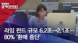 라임 펀드 규모 6.2조→2.1조…80% '환매 중단'
