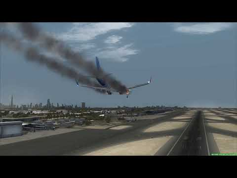 flydubai 737-800 engine fire Emergency at Dubai