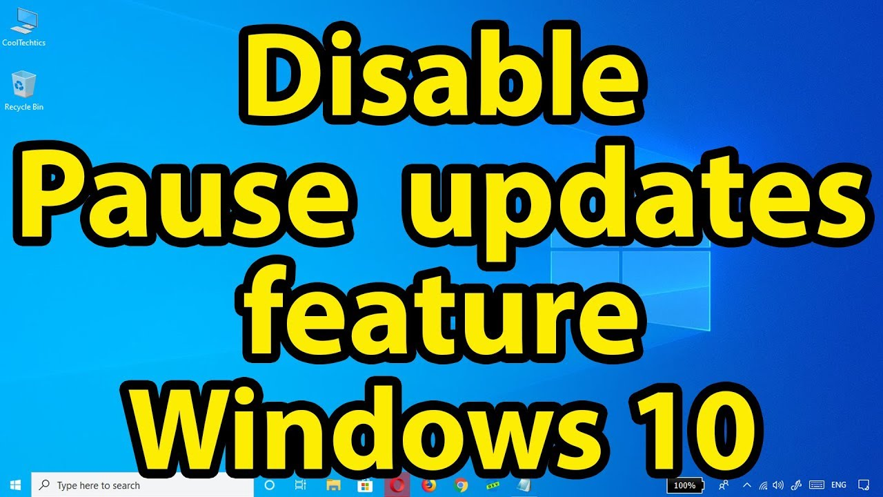 Disable 'Pause updates' feature on Windows 10 May 2019 Update