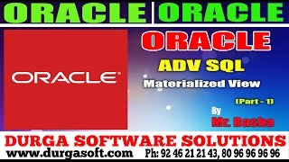 Oracle Tutorial    online training  Adv Sql   Materialized View Part - 1 by basha