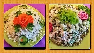 Баночка зеленого горошка+наше желание и умение=2 салата