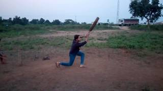 Gautam batting in slow motion