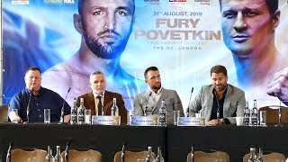 Hughie Fury vs Alexander Povetkin FULL PRESS CONFERENCE | Matchroom Boxing