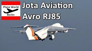 Jota Aviation Avro RJ85 *G-JOTR* takeoff from Berlin Tegel Airport