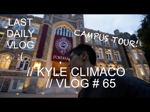 College Campus Tour || Fordham University - The LAST Daily Vlog