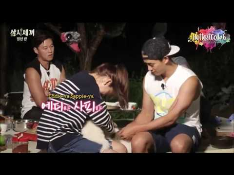 """park shin hye playing with eddie n sappie (cute dog) 