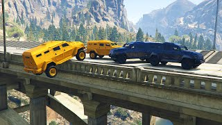 EXTREME BRIDGE DEMO DERBY! (GTA 5 Funny Moments)