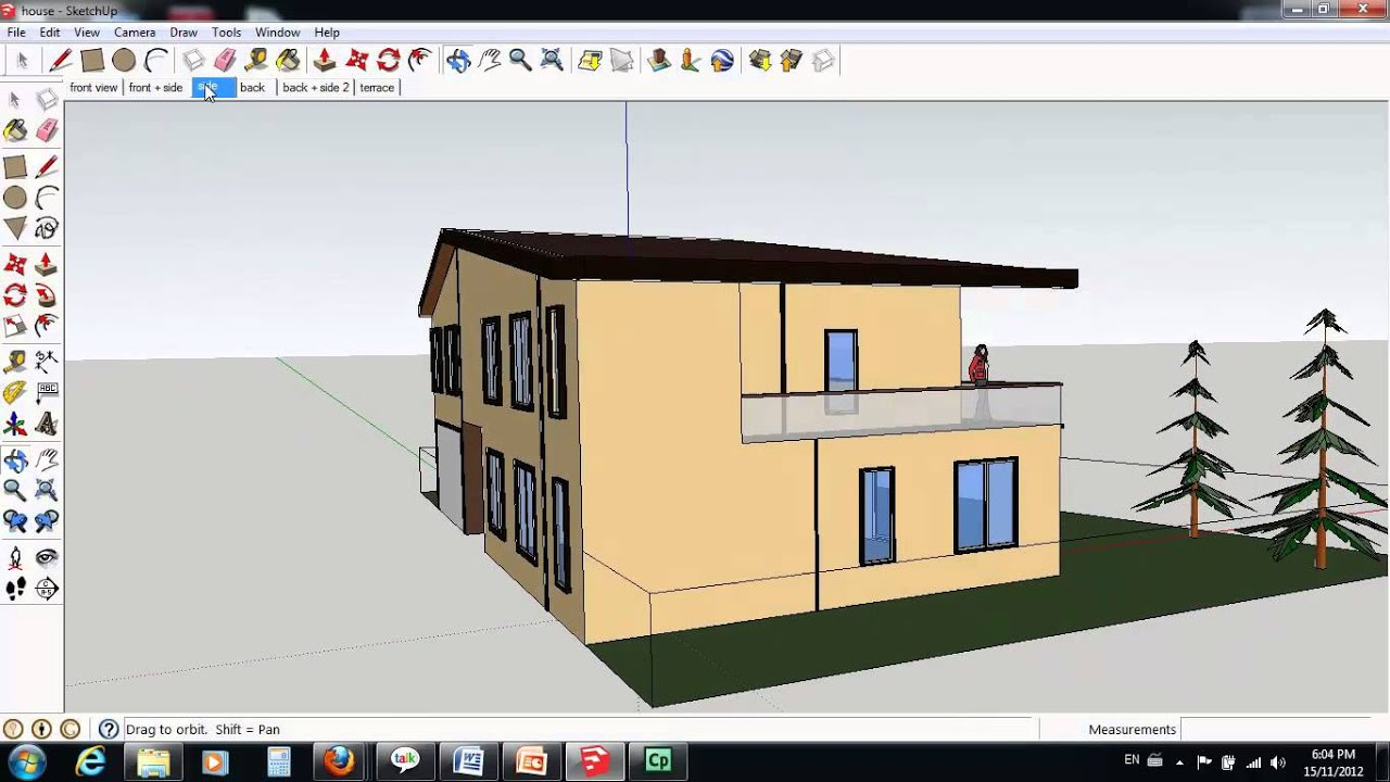 2 Storey House Design Google Sketchup   YouTube Part 86