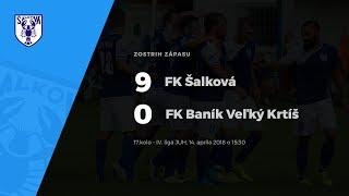 Zostrih zápasu FK Šalková - FK Baník Veľký Krtíš