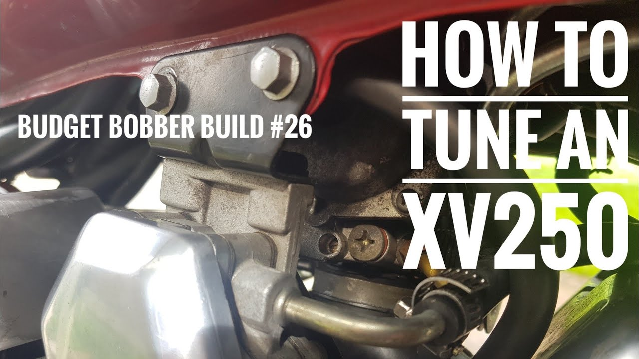 Budget Bobber Build #26 | How to Tune a Virago XV250 with Pod Filters and  Drilled Exhaust - YouTubeYouTube