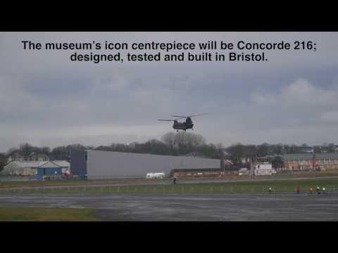 Chinook Lifts Sea Harrier Across Filton