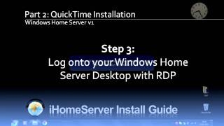 iHomeServer Setup on WHS v1 - Part 2 - QuickTime Installation