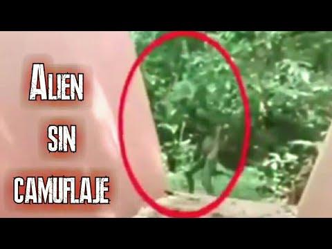 Extraterrestre pierde su camuflaje y es captado en video