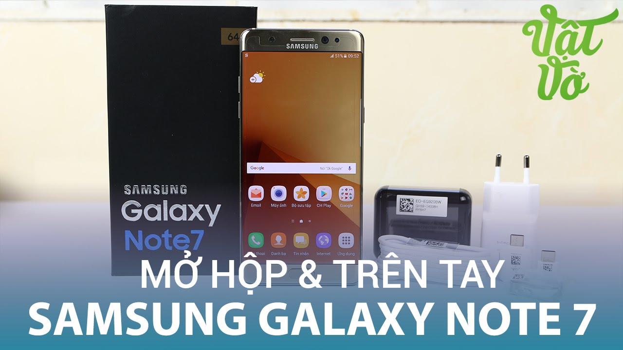 Vật Vờ| Mở hộp & trên tay nhanh Samsung Galaxy Note 7 Gold Platinum