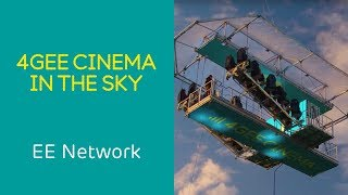 地上30メートル、空を飛ぶ映画館!?ポップコーンはドローンでお届けします。