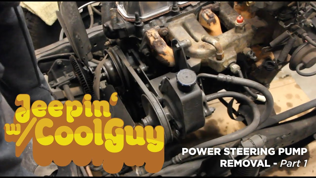 Jeep Cj7 Power Steering Pump Removal Part 1
