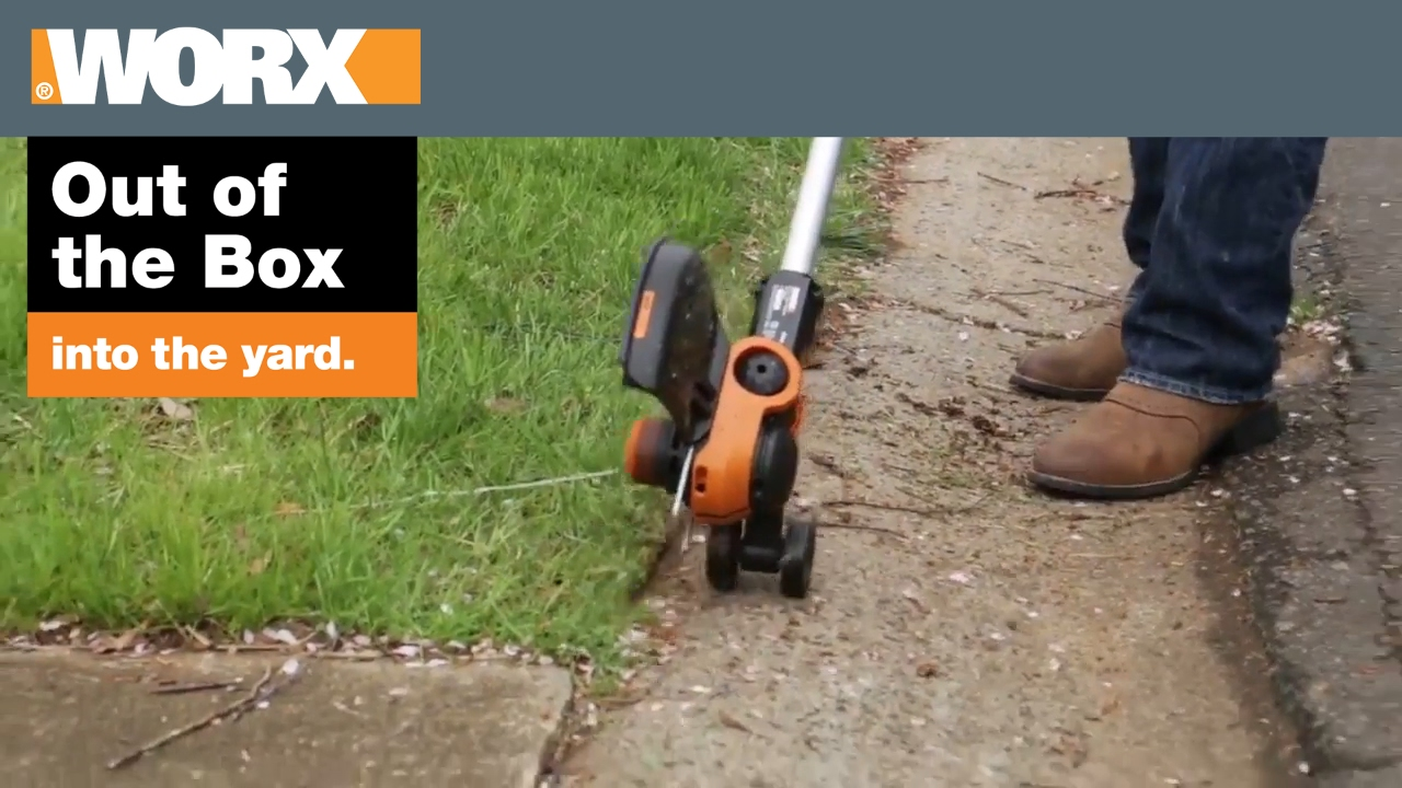 Worx Gt 3 0 Grass Trimmer Out Of The Box Youtube