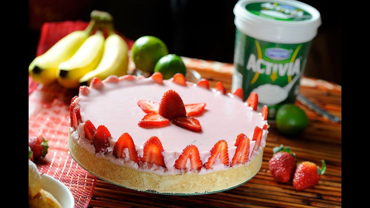 Pay De Yogurt Con Fresas Sin Hornear Postre Fácil Cocina Al Natural