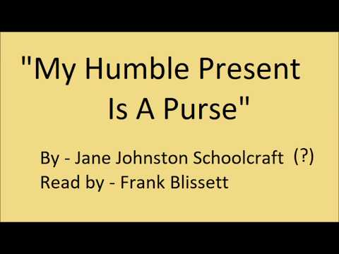 """My Humble Present Is A Purse"" by Jane Johnston Schoolcraft"