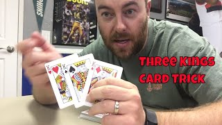 Simple Beginner Level Card Trick: Three Kings