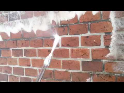 Typhoon blaster sand blasting pressure washer paint removal on brick youtube for Removing paint from interior brick