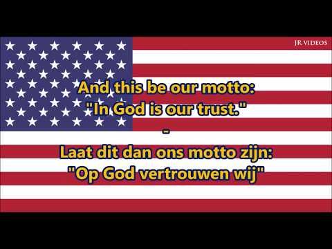 Amerikaans Volkslied ENNL tekst  Anthem of USA Dutch