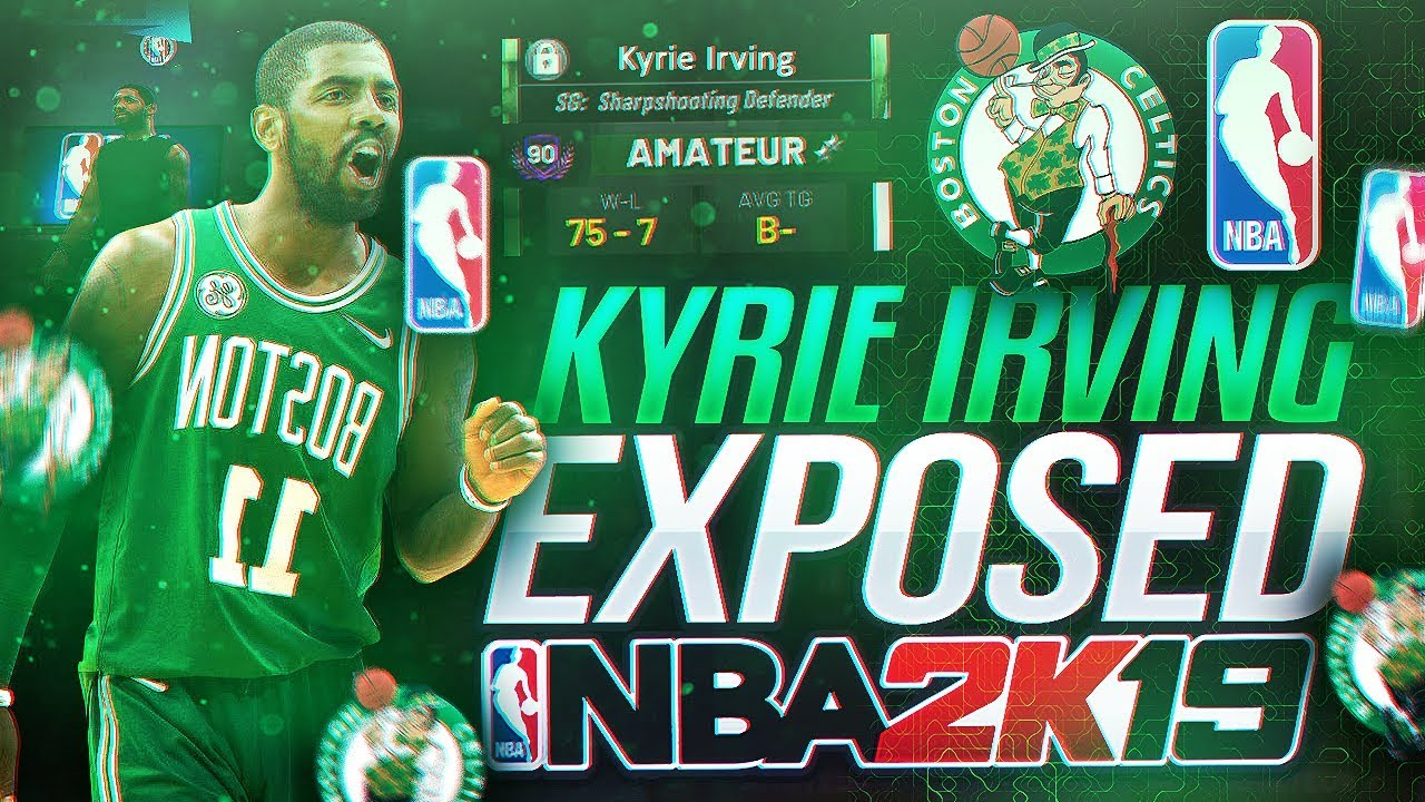 2bf9e111535 NBA ALL STAR KYRIE IRVING EXPOSED BY BEST STRETCH BIG!! DEMI-GOD CENTER  BUILD VS NBA PLAYER NBA 2K19