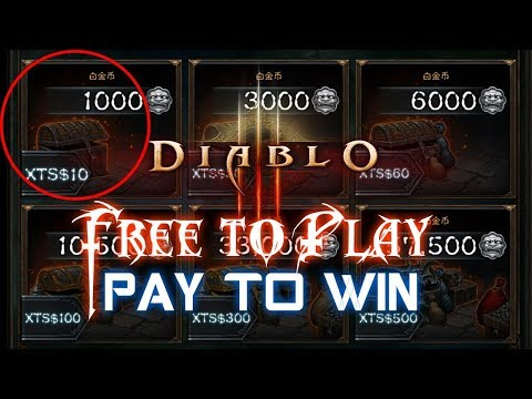 Diablo 3 Free to Play & Pay to Win In China
