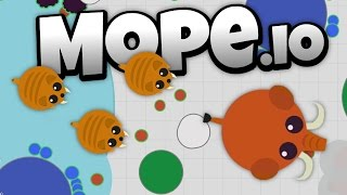 Mope.io -Saber Tooth Tigers and Wooly Mammoths! - Let's Play Mope.io Gameplay