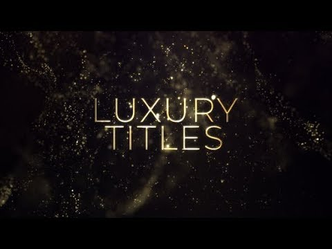 Luxury Gold Titles ( After Effects Template ) ★ AE Templates