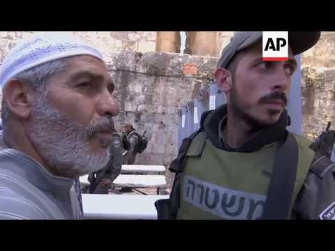 Prayers following attack at Jerusalem holy site