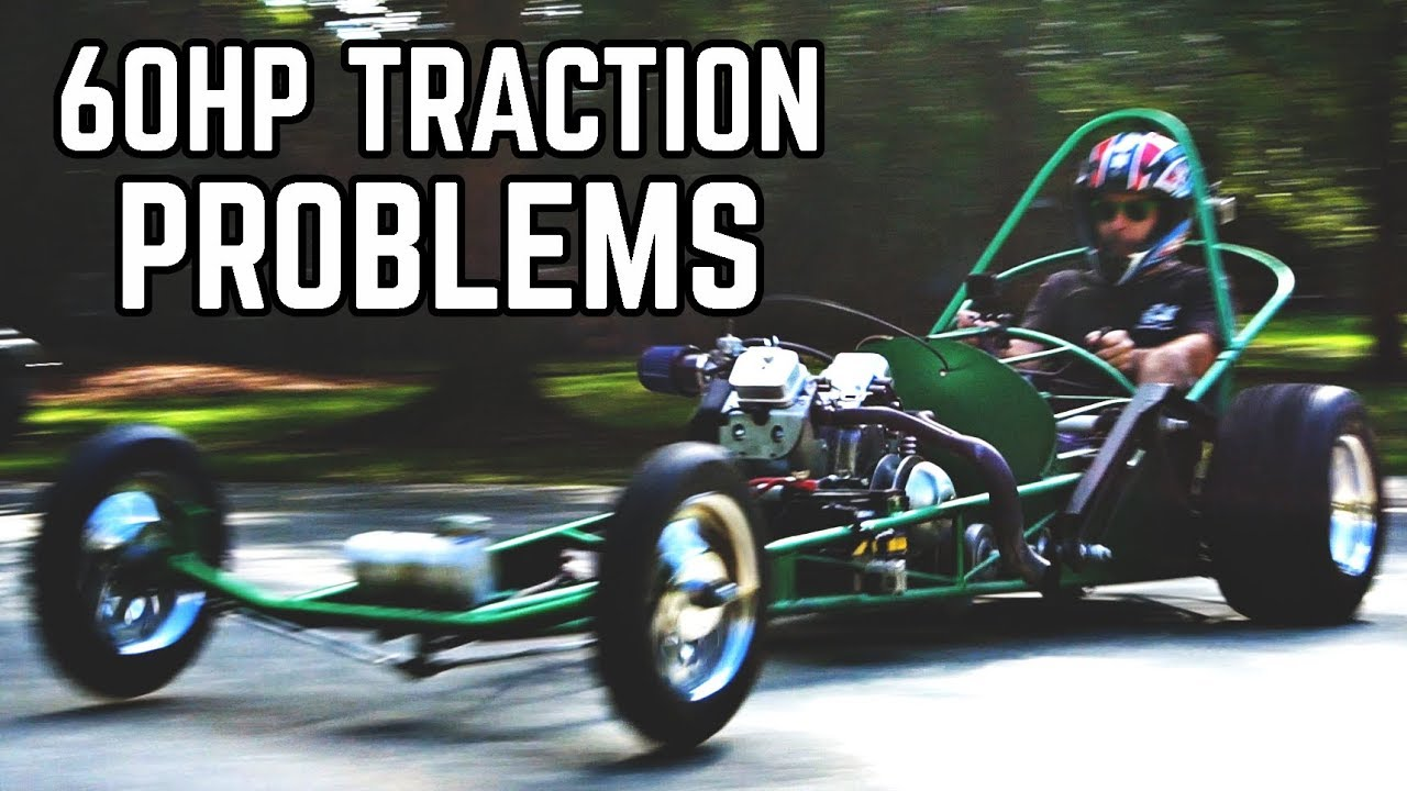 60hp-dragster-kart-tuning-traction-problems
