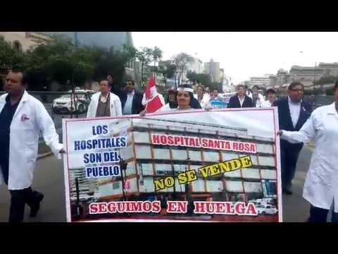 FEDERACION MEDICA PERUANA MARCHA MANDILES BLANCOS 18-07-14