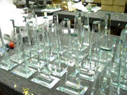 UNIVERSAL LASER C02 ENGRAVER AFC AWARDS crystal glass awards