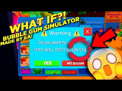 IF BUBBLE GUM SIMULATOR WAS MADE BY EA!!! 😱 90,000 SUBSCRIBERS SPECIAL VIDEO!! 😱 THANK YOU SO MUCH 💖