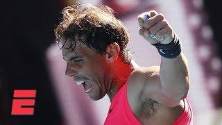Rafael Nadal dominates Pablo Carreno Busta in straight sets   2020 Australian Open Highlights