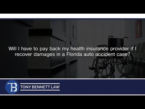 Will I have to pay back my health insurance provider if I recover damages in a...
