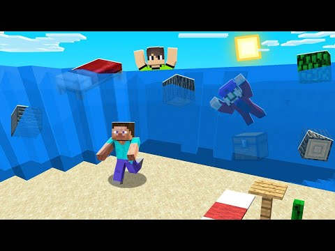 Minecraft BUT The WATER Keeps On RISING! (impossible)