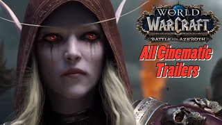 The Story of Battle for Azeroth (BFA) | All Cinematic Trailers | World of Warcraft