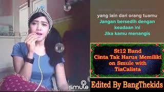 Gambar cover KAROKE BARENG ARTIS * St12 Band - Cinta Tak Harus Memiliki on Smule with TiaCalista