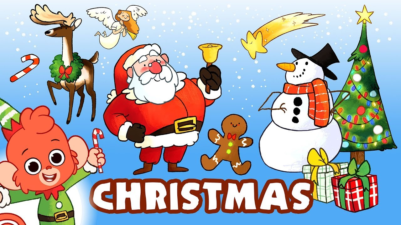 Christmas Cartoons.Christmas Cartoons For Kids Merry Xmas Video For Children Learn Christmas Club Baboo