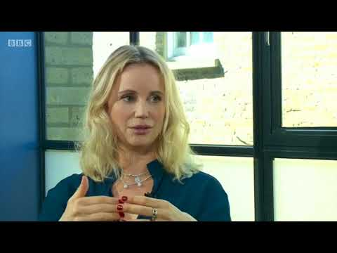 Sofia Helin star of The Bridge on The Andrew Marr  BBC One 29th April 2018