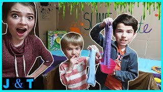 Caught Sneaking Into JustJordan33s Slime Suite  Jake and Ty