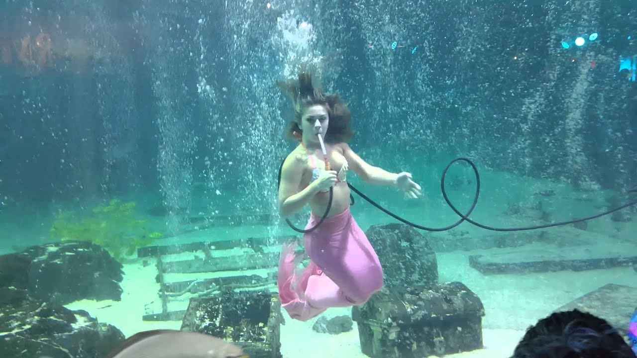 Mermaid At Adventure Aquarium Camden Nj Youtube