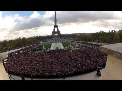 Psy - Gangnam style / Flashmob Paris Trocadero 5-11-2012