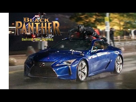 Black Panther Riding a Car Behind-The-Scenes Clip - Chadwick Boseman